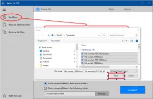 Nebula PDF Converter - Word to PDF - Browse File